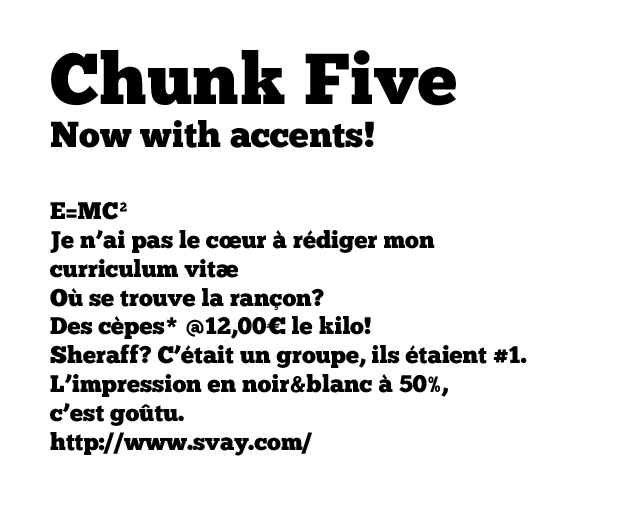 Chunk Five with accents