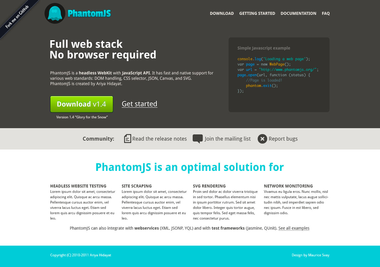 PhantomJS website